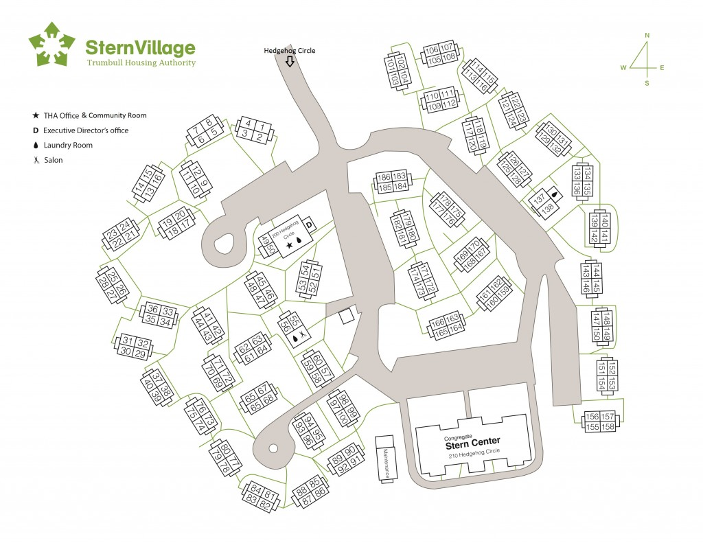 MAP OF STERN VILLAGE - 51614